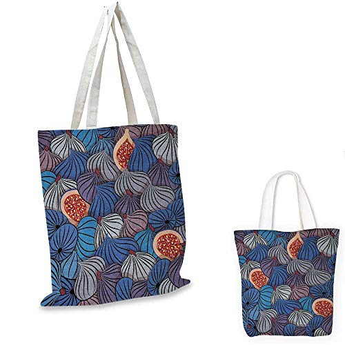 Blank Utility Pouch - Kitchen Art Wall shopping bag storage pouch Half Whole Fig Fruits Sweet Ripe Gourmet Vivid Mediterranean Artwork small tote shopping bag Blue Purple Grey. 12