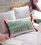 SOLAJ Cotton Cushion Cover (Multicolour,12X18)