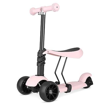 Ydq Scooter Patinete para Niños con Asiento De 3 Ruedas ...