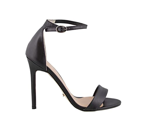 f585dd154a6 Tony Bianco Karvan Dress Sandals - Womens Leather Stiletto Heel Sandal in A  Simple Two Strap Design with an Ankle Buckle Closure (5