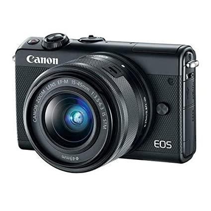 Canon EOS M100 Mirrorless Camera with EF M 15 45mm f/3.5 6.3 is STM Lens, Black Digital Cameras