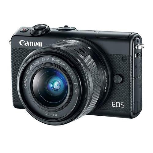 Canon EOS M100 Mirrorless Camera with EF-M 15-45mm f/3.5-6.3 is STM Lens, Black