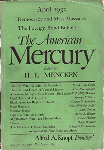 The American Mercury April 1932