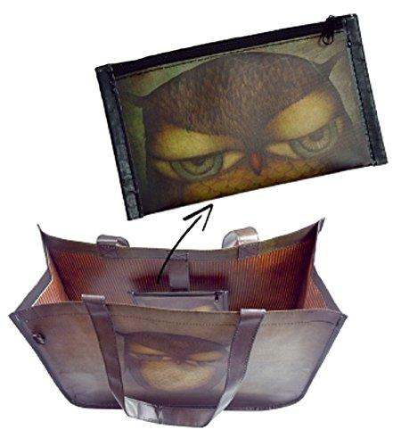 Santoro Grumpy Owl Woven Shopper Bag