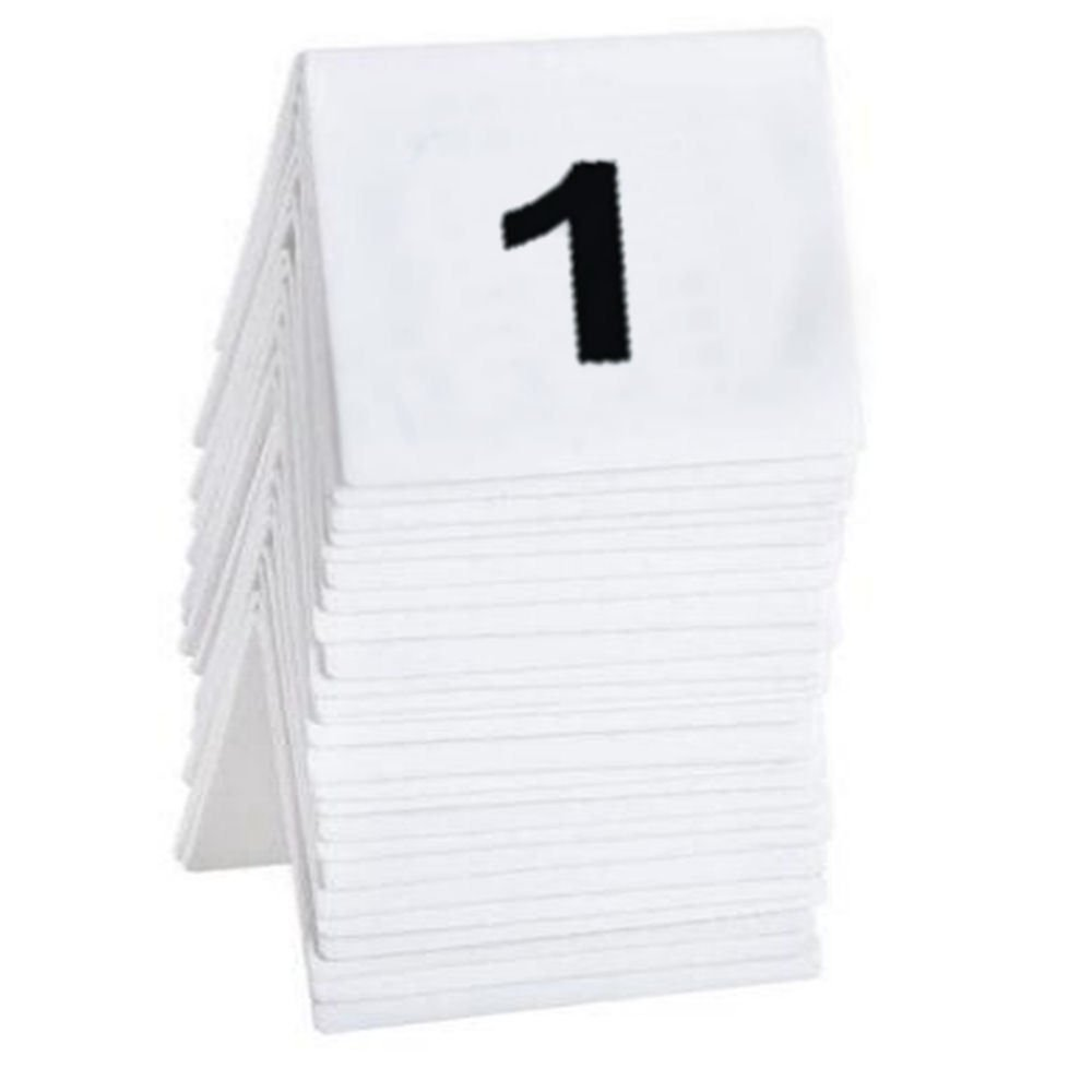 BarBits 1 to 25 Plastic Table Numbers Set - Flexible Wedding Restaurant Bars Cafe Signs Prc Disposables Ltd