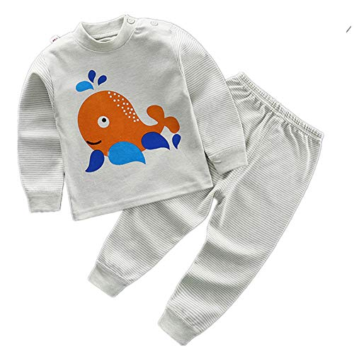 FTSUCQ Girls/Boys Toddler Cartoon Long Sleeve Pyjamas Top + Pants,Orange 80]()