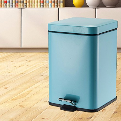 STAINLESS STEEL PEDAL SQUARE TRASH BIN - 8