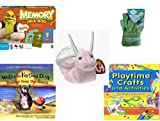 Children's Gift Bundle - Ages 3-5 [5 Piece] - Shrek Forever After Memory Game - Sky High Hopper Garden Starter Set - Ty Beanie Baby - Swirly the Snail - Walter the Farting Dog: Banned From the Beach