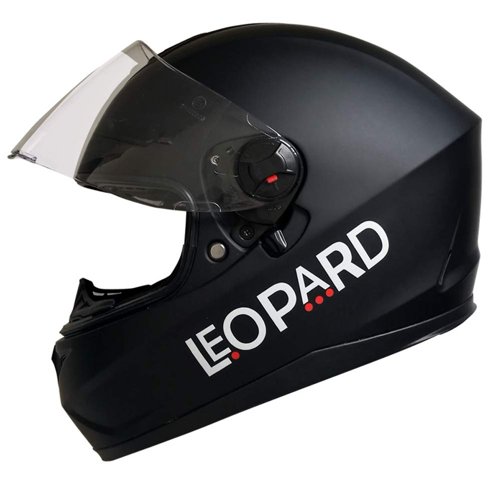 Matt Schwarz//Blau L 59-60cm Leopard LEO-808 Motorradhelm Integralhelm Rollerhelm Sturzhelm mit Doppelvisier Sonnenblende Glasfaser Schale ECE-gepr/üft