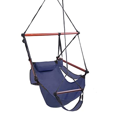 Teeker Well-Equipped S-Shaped Hook High Strength Assembled Hanging Seat Cacolet (Blue): Garden & Outdoor