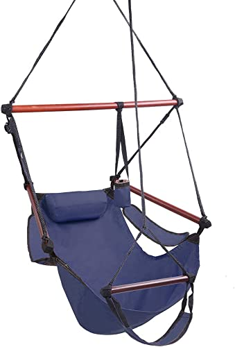 Teeker Well-Equipped S-Shaped Hook High Strength Assembled Hanging Seat Cacolet Blue