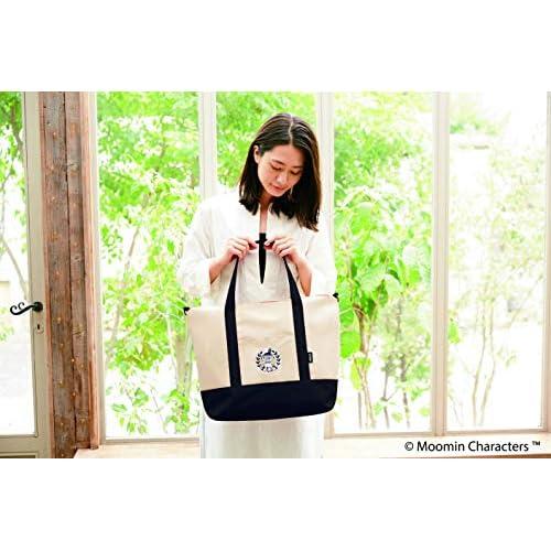 MOOMIN 2WAY BIG BAG BOOK BLACK 画像 E