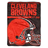 The Northwest Company 1 Pc, Cleveland Browns Blanket 46x60 Micro Raschel 40 Yard Dash Design Rolled, Acrylic & Polyester, Extra Warm & Superior Durability, Easy Care, Machine Washable & Dryable