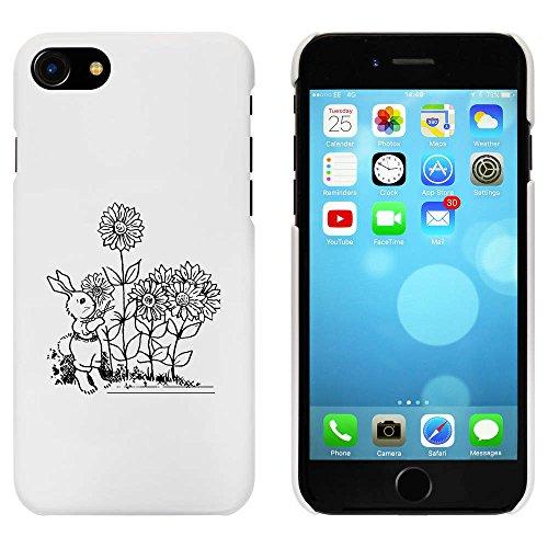 Blanc 'Lapin avec Fleurs' étui / housse pour iPhone 7 (MC00061978)