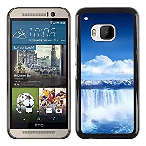 Design for Girls Plastic Cover Case FOR HTC One M9 Waterfall Blue Africa OBBA