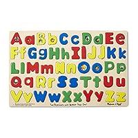 Melissa & Doug Upper & Lower Case Alphabet Letters Wooden Puzzle (52 pcs)