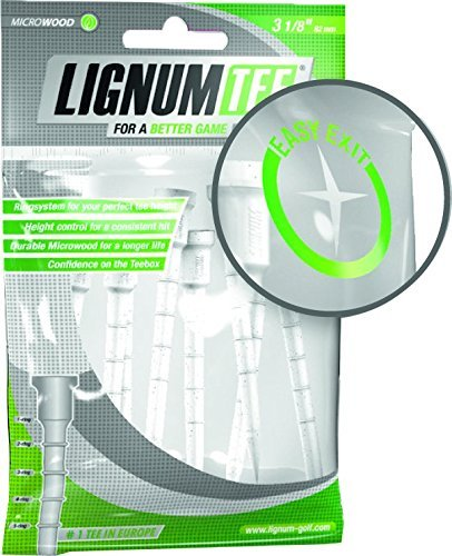 Lignum Tee Lignum Tees 53 mm Weバッグ16pcs – ゴルフティー(プラスチック)色:ホワイトサイズ: 53 mm by Lignum Tee   B01LE3JV38