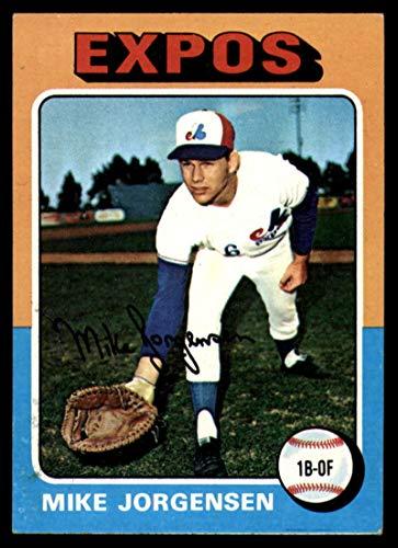 Baseball MLB 1975 Topps Mini #286 Mike Jorgensen EX/NM Expos