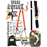 WOSS AttacK Trainer Made in USA - Best PRO Trainer System with Rubber Grips (Hot Orange)