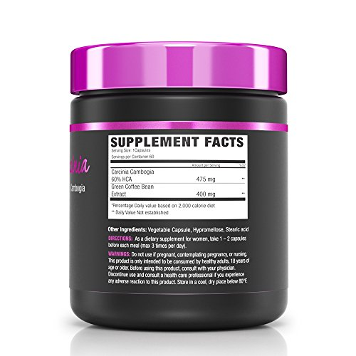 NLA for Her - Her Garcinia - Potent 60% HCA (Hydroxycitric Acid) Garcinia Gambogia - Suppots Weight Loss & Promotes Lean Body Composition with Green Coffee Bean Extract - 60 Capsules