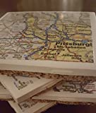 Pittsburgh, PA Map Coasters, Set of 4 Review