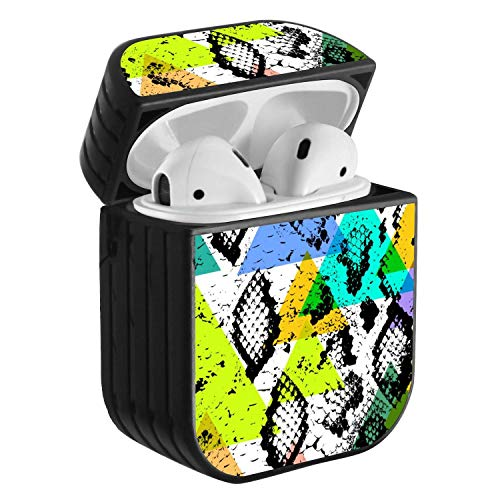 Compatible with Airpods 2 & 1, Shockproof Portable Protective Hard Cover Case with Neck Lanyard Strap - Paisley Wallpaper in The Style of Baroque