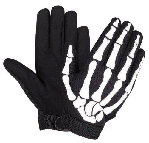 Large Skeleton Hand Bones Fingers Motorcycle Biker Mechanic Gloves Work Premium