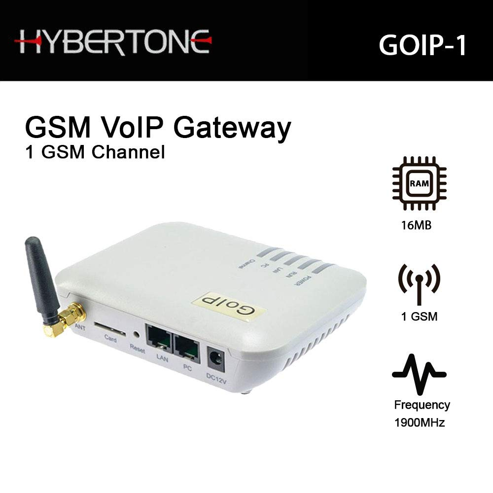 GSM VOIP Gateway GOIP-1 Support Asterisk,Trixbox,3CX,SIP Proxy Server,Voip Buster by Hybertone