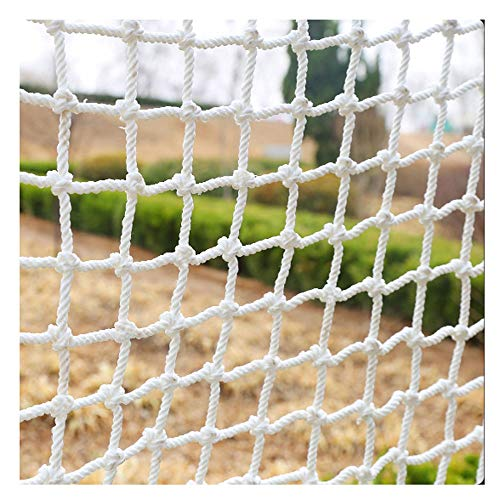 HWJ Decor Net,Children Protection Safety Fence Climbing Woven Rope Truck Cargo Trailer Netting,for Railings Stairs Children Indoor Stairs Playground Outdoor Ceiling Decoration Nylon 10cm 6mm 4