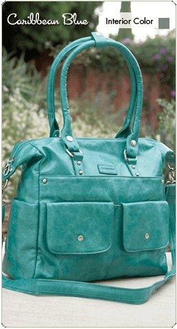 Namaste Harlow Handbag Shoulder Bag Caribbean Blue Vegan Purse Tote