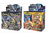Pokemon Trading Card Game Sun & Moon Ultra Prism Booster Box and Sun & Moon Base Set Booster Box Bundle, 1 of Each