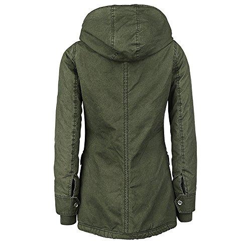 Ladies Anorak militar perchero de Parka chaqueta pared Classic Safari dressation con capucha regla Womens invierno de RqR8gd