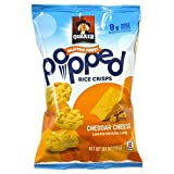 quaker popped cheese - Quaker Popped Cheddar Cheese Rice Crisps 6.06 oz