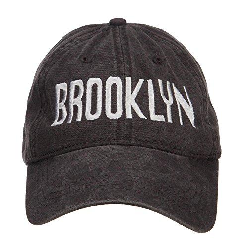 e4Hats.com Brooklyn Embroidered Washed Cap - Black OSFM