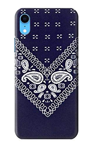detailed pictures 63582 206d5 Amazon.com: R3357 Navy Blue Bandana Pattern Case Cover for iPhone XR ...