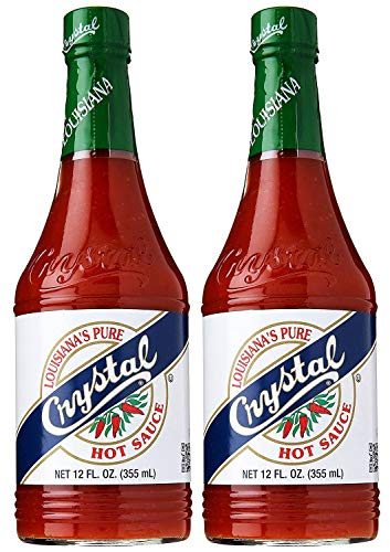 Crystal Hot Sauce, Louisiana's Pure Hot Sauce, 12 Fluid Ounces (Pack of 2)