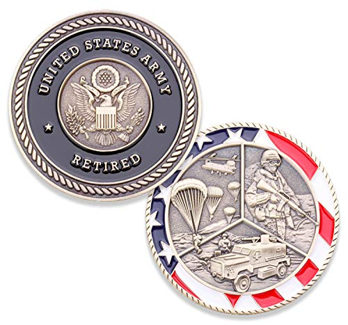 (Army Retired Challenge Coin - United States Army Challenge Coin - Amazing US Army Retired Military Coin - Designed by Military Veterans!)
