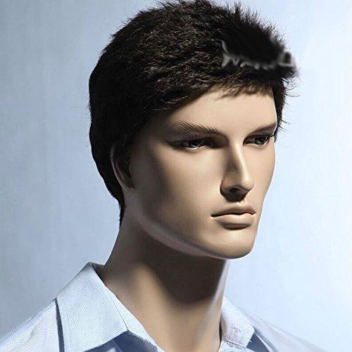 FCL 2015 Stylish Business Men's Short Dark Brown Cosplay hair wig Straight Wigs