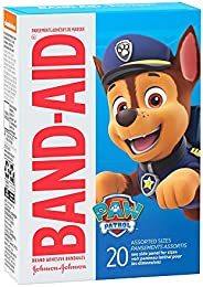 Band-Aid Brand Adhesive Bandages for Minor Cuts & Scrapes, Wound Care Featuring Nickelodeon Paw Patrol Cha