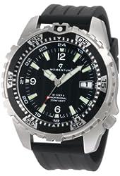 Momentum Men's 1M-DV06B8B M1 Deep 6 Black Dial Black Ribbed Rubber Watch