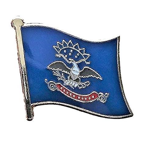 USA State Flag Lapel Hat Pin NEW North Dakota