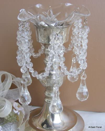 4 available Prisms Candle Rings Vintage Acrylic Candle Bobeche