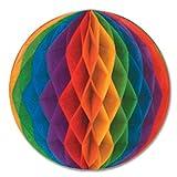 Beistle Packaged Tissue Ball, 12-Inch, Rainbow