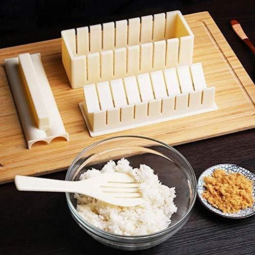 Floepx 10 Pcs DIY Sushi Maker Kit with Sushi DIY Sushi Set,Complete with Sushi Heart Shape