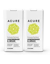 Acure Curiously Clarifying Lemongrass Shampoo & Conditioner, 12 Fluid Ounces