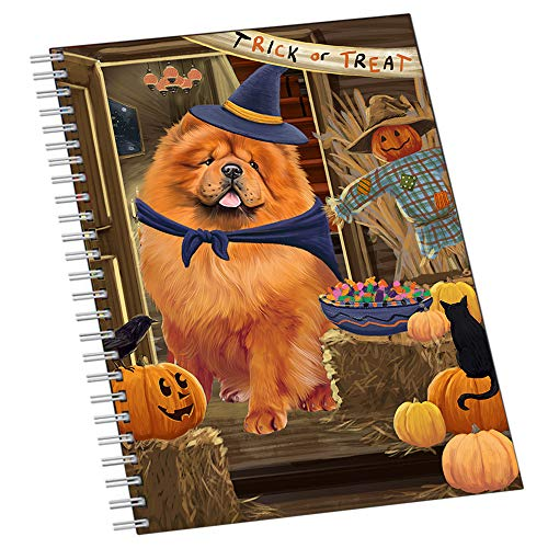 Enter at Own Risk Trick or Treat Halloween Chow Chow Dog Notebook NTB51922]()