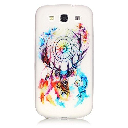 [Extremadamente Delgada] Funda 3D Silicona Transparent para Samsung Galaxy S3 , Funda TPU Ultra Slim para Samsung Galaxy S3 , TOCASO Case Fina Slim Fit Cristal Clear, Noctilucent Cover Glittering Blin Cervatillo de Color