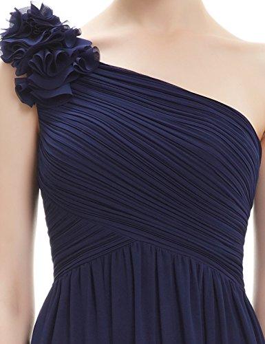 08237 Elegante de Verano Fiesta de Ever para Azul Marino Vestido Vestido Dama Pretty Honor Mujer Largo Boda Cóctel ZqvEU