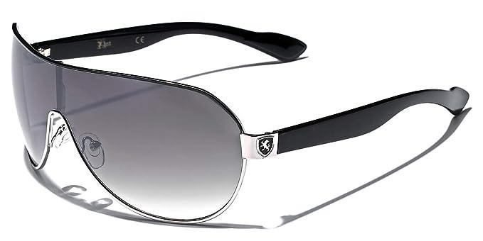 Amazon.com: Khan moda Hombre cuadrados anteojos de sol de ...