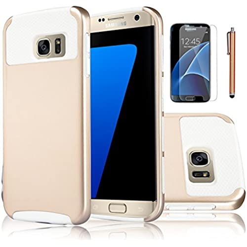 Galaxy S7 Case,EC 2-Piece Extra Slim Hybrid Dual Layer Hard Cover Case for Samsung Galaxy S7 2016 Release (Champagne Gold+White) Sales